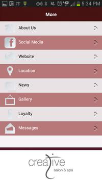 Creative Salon and Spa apk screenshot