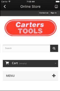 Carters Tools Ltd, London apk screenshot
