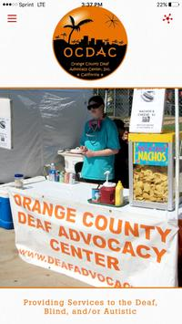 Orange County Deaf Advocacy poster