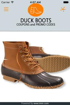 Duck Boots Coupons - I'm In! poster