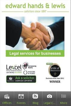 Edward Hands & Lewis Solicitor poster