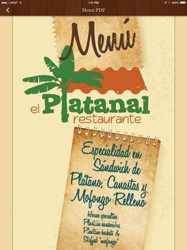 Restaurante El Platanal apk screenshot
