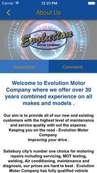 Evolution Motor Company screenshot 1