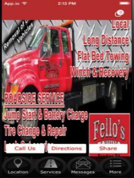 Fello's Towing poster