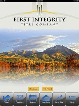 First Integrity Title poster