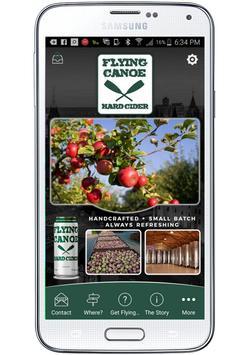 Flying Canoe Hard Cider poster