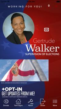 Gertrude Walker for Election poster