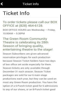 The Green Room apk screenshot