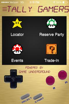 Tally Gamers App poster