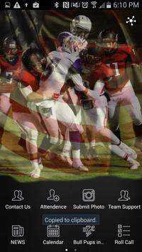 Hanford Bullpups Football poster