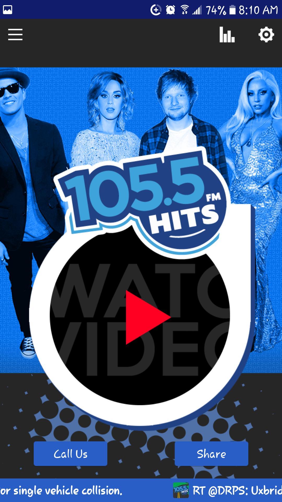 105.5 Hits FM. The Voice of Uxbridge poster