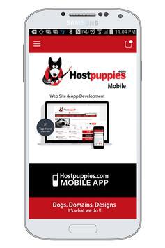Hostpuppies.com Mobile App poster