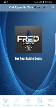 FRED by ORT Houston poster