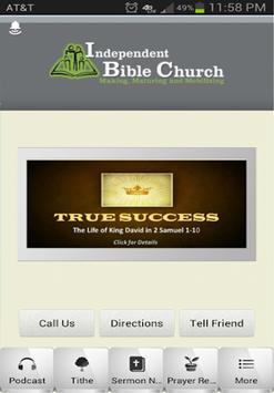Independent Bible Church poster