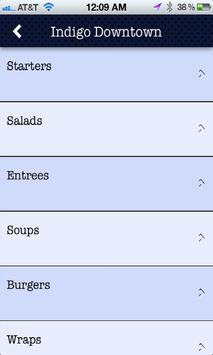 Indigo Cafe & Catering apk screenshot