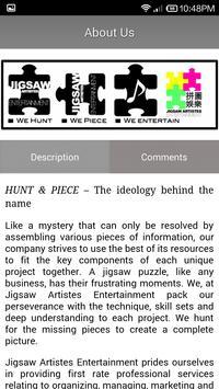 Jigsaw Artistes Entertainment screenshot 3