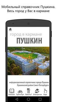 Город Пушкин в кармане poster