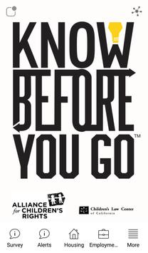 Know Before You Go poster