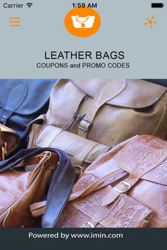 Leather Bags Coupons - ImIn! poster