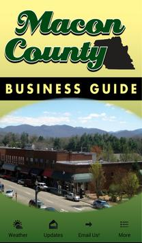 Macon County Business Guide poster