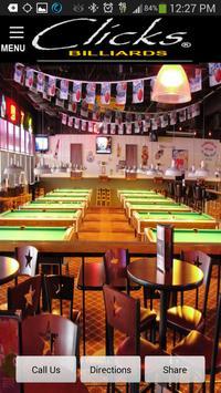 Clicks Billiards El Paso poster