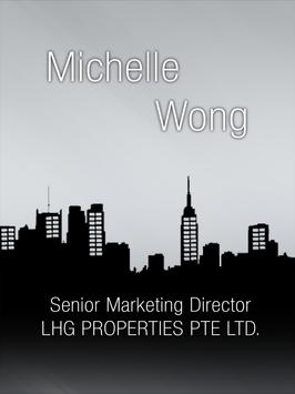 Michelle Wong Property agent poster