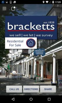 Bracketts Estate Agents poster