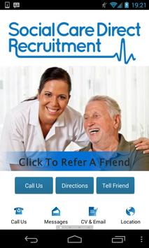 Social Care Direct Recruitment poster