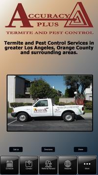Accuracy Plus Termite & Pest poster