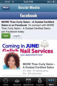 More Than Curly Salon apk screenshot