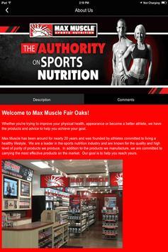 Max Muscle Fair Oaks screenshot 2