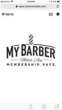 My Barber Membership App poster
