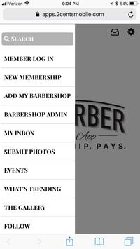 My Barber Membership App screenshot 1