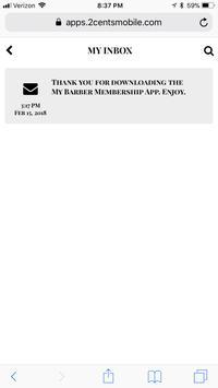 My Barber Membership App screenshot 2