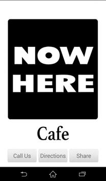 Nowhere Cafe poster