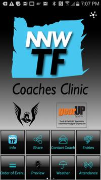 NNW T&F Coaches Clinic poster