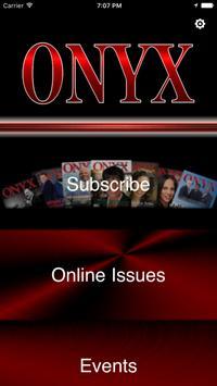 Onyx Magazine poster