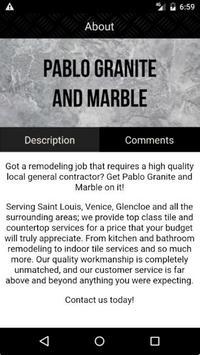 Pablo Granite and Marble screenshot 2