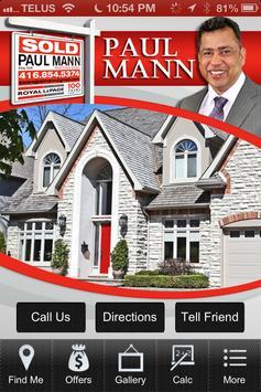 Paul Mann Real Estate poster