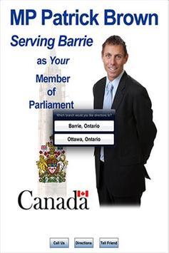 MP Patrick Brown poster