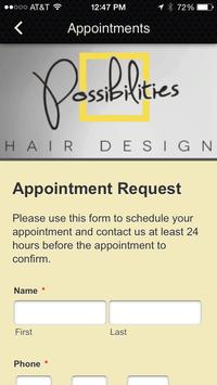 Possibilities Hair Design screenshot 3