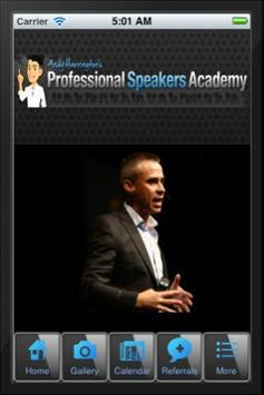 Professional Speakers Academy poster