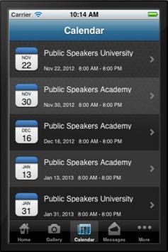 Professional Speakers Academy screenshot 2