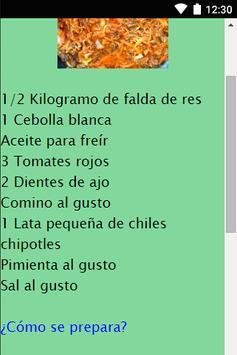 Recetas Mexicanas. apk screenshot