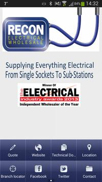 Recon Electrical poster