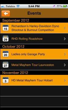 Richardsons Harley Davidson screenshot 1