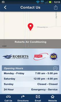 Roberts Air Conditioning screenshot 1