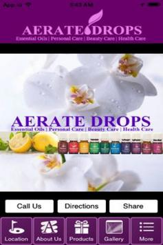 Aerate Drops poster