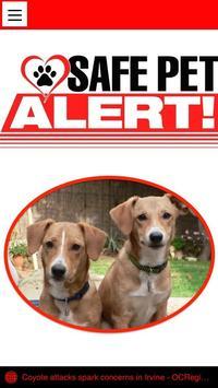 Safe Pet Alert poster