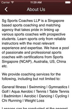 Sg Sports Coaches LLP poster